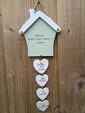 Signo de Placa Personalizado casa de calentamiento Nuevo Hogar Corazón Mamá Cumpleaños de regalo de familia