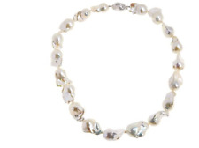 "Josh Bazar ""imperial Pearls"" 13-17mm White Cultured Baroque Pearl Necklace 20""L"