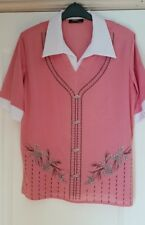 Brand New: Pink/White Top Size L (16)