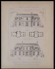 VERSAILLES, PAVILLON DE MARSAN - 1894 - PLANCHE ARCHITECTURE -