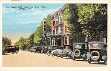 Wisconsin postcard Antigo The Butterfield Hotel opposite Post Office