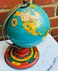 "1950's VTG ZODIAC 7"" GLOBE Chein Metal Astrology 7 in Model EARTH WORLD Decor"