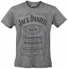 Jack Daniel's Acid Washed Grey T-Shirt Unisex Size Taille S