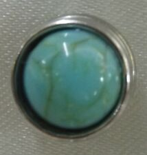 Turquoise Stone Pattern 12mm  Noosa Snap Button Chunk