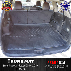 Cargo Rubber Trunk Mat Boot Liner for Toyota Kluger 2014 - 2019 (5 seat version)
