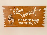 Vintage Humorous Slightly Risque Wall Hanging Sign - FREE SHIPPING