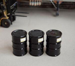 1/18 BLACK Barrels (3) Shop Garage Diorama from Austin's Garage