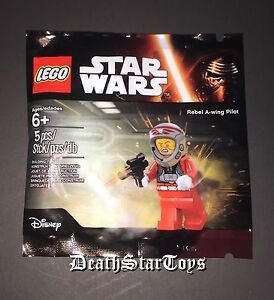 Star Wars Lego Poly Bag Rebel A-Wing Fighter Pilot Minifigure Force Awakens ROTJ