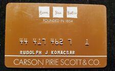 Carson Pirie Scott & Co charge cardâ—‡free shipâ—‡cc1831
