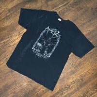 Vintage Early 2000s Amebix Band T Shirt Sz L Black Crust Punk Metal