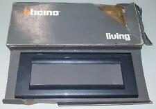 ORIGINALE NUOVA PLACCA 6 posti 4716AC ANTRACITE BTICINO LIVING CLASSIC TICINO