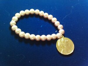 Mary Kay Pink Pearl Bracelet with Mary Kay Charm