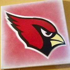 Arizona Cardinals Logo Stencil Painting - 12 x 12 Canvas