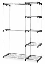Whitmor Double Rod Closet System Organizer Wardrobe Portable Clothes Rack Holder