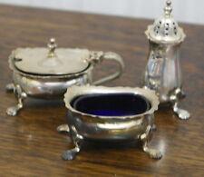 vintage silver plate SALT AND PEPPER POT cruit set