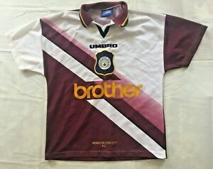 MANCHESTER CITY  REPLICA SHIRT AWAY 3RD. KIT 1996 SIZE SMALL (YOUTHS 86-91CM)