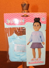 "🎅New 18"" Doll Clothes Dream Sweatshirt & Skirt From Springfield Collection 🎅"