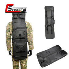39'' 100cm Double Tactical Rifle Bag Weapons Carrying Gun Case Backpack Black