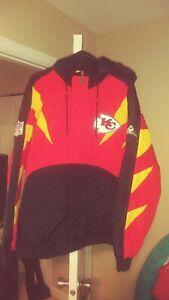Apex Kansas City Chiefs Throwback Starter Jacket Large New! Nfl