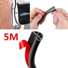 5m Black Rubber Car Door Hood Frame Seal Protector Strip Scratch Gaurd Self Tape