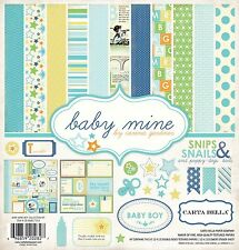 "CARTA BELLA - ""BABY MINE BOY"" 12"" x 12"" Kit - Everything you need to Dream Big"