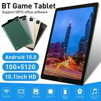 "2021 10.1"" WiFi Tablet Android 10.0 10G+512G 10 Core PC Google GPS+ Dual Camera"