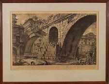 Giovanni Battista Piranesi (Italian,1720 – 1778) Original Etching Print c.1750