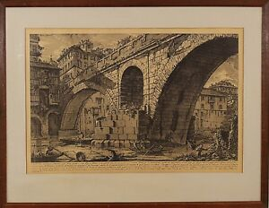 Giovanni Battista Piranesi (Italian,1720 – 1778) Original Etching Print c.1750