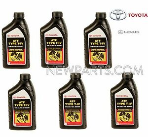 For Set of 6 for Toyota Yaris Pickup Automatic Transmission Fluid 00279000T4