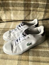 AUTHENTIC MENS LACOSTE LEISURE SHOES/TRAINERS SIZE 9/44 CROCODILE SKIN *READ*