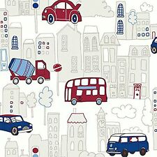 MOTOR MANIA BLUE & RED WALLPAPER - ARTHOUSE 533501 - CARS BUSES