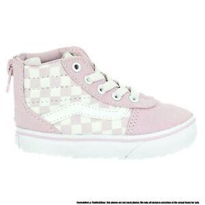 VN0A3DP2V2Q1 VANS Ward Hi Zip Checkerboard (Lilac Snow) Toddler Shoes Size 10