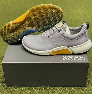 ECCO Biom H4 Spikeless Men's Golf Shoes Size 43 Silver US 9.5 New in Box #86006