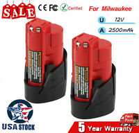 2X For Milwaukee 49-24-2310 48-59-1201 DC12V Battery USB M12 Adapter Power Tools