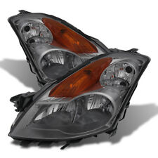 Fit Nissan 07-09 Altima 4Dr Sedan Smoke Lens Replacement Headlights Pair Set