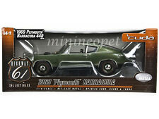 HIGHWAY 61 50570 1969 69 PLYMOUTH BARRACUDA 440 1/18 DIECAST MODEL CAR GREEN