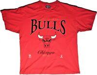 1990's Chicago Bulls Established 1966 Lee Sport Nutmeg NBAP Red T-Shirt Size XL