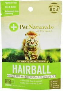 Hairball for Cats by Pet Naturals of Vermont, 30 chews 3 pack
