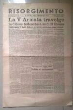 GIORNALE RISORGIMENTO LIBERAZIONE DI ROMA 4 GIUGNO 1944 SECONDA GUERRA MONDIALE