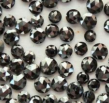 Natural Loose Diamond Round Rose Cut Black I3 Clarity 2.5 MM 1.00 Ct Lot P2-9