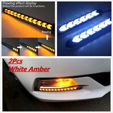 2Pcs 2Color LED Knight Rider Strip Light Headlight Arrow Flasher DRL Turn Signal