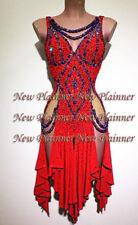 L754 Ballroom Rhythm salsa Latin samba swing dance dress UK 10 red