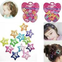 12Pcs Kids Girls Barrettes BB Clip Asymptotic Color Hair Clips Accessories Gift