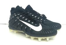 Nike Alpha Menace Elite Football Cleats Black White Mens SZ 11 NEW