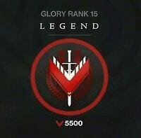 Legendary Glory Rank 0 - 5500 [PS4] [Xbox Pc = Cross save]