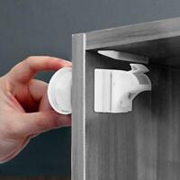 Unsichtbare Kindersicherheit Magnetschloss Pet Proof Schranktür Home O8K9