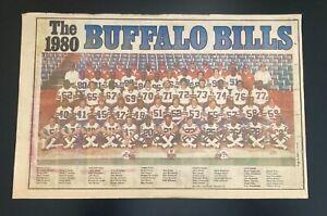 Vintage Buffalo News 1980 Buffalo Bills NFL Team Poster
