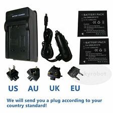 2pcs DMW-BCK7E BATTERY + charger FOR PANASONIC LUMIX DMC-FS18 DMC-FS16 DMC-S3