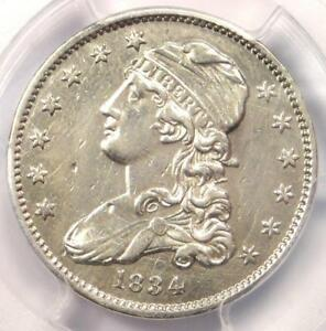 1834 Capped Bust Quarter 25C - PCGS AU Details - Rare Early Date Coin in AU!