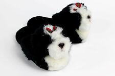 Shih-Tzu Dog Slippers  - Black & White Animal Slippers